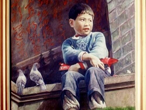 看到阳光的男孩--周晓冰油画作品《六月的阳光》艺术鉴赏|严颉
