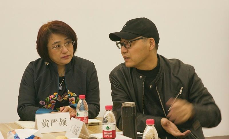 26-专家研讨会(左:出品人黄严颉,右:策展人王春辰