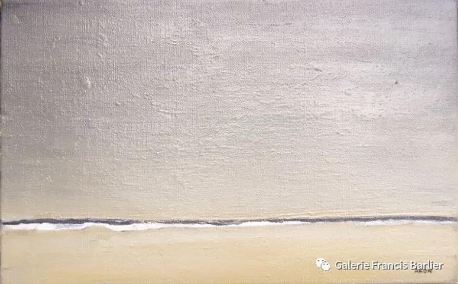 离开沙滩 雷米·艾融 2018年 35x22cm 布面油画