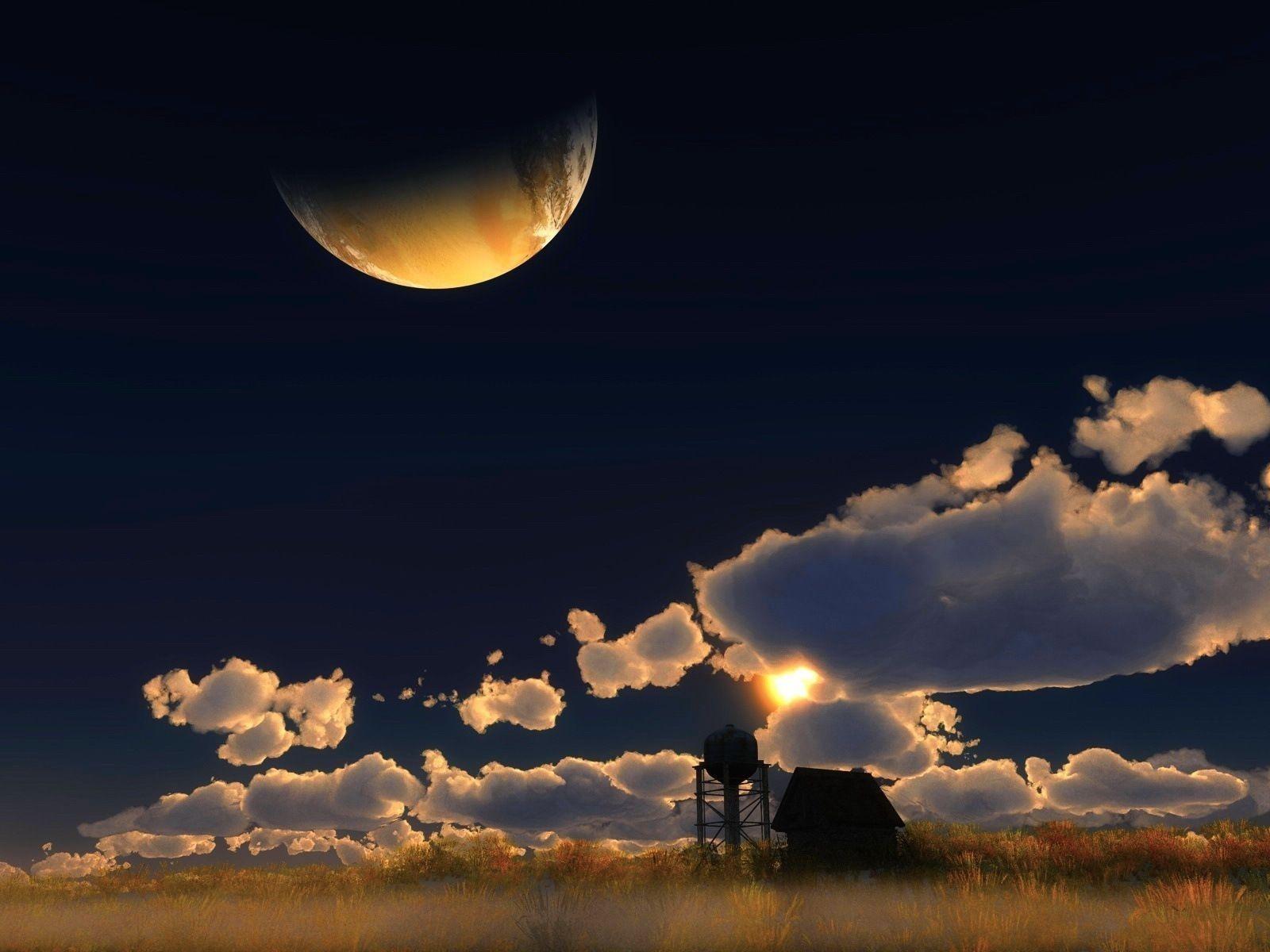 月亮|严颉