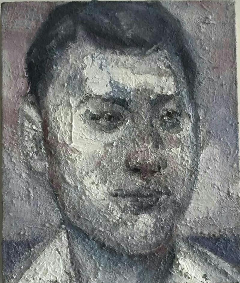 艺术家廖邦铭自画像